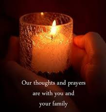 In our Thoughts and Prayers