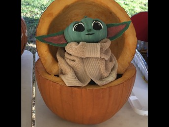 Baby Yoda - PR Pumpkin Decorating Contest