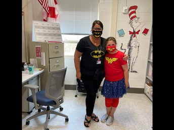 SUPER HEROES MRS. WILSON  AND ABBY