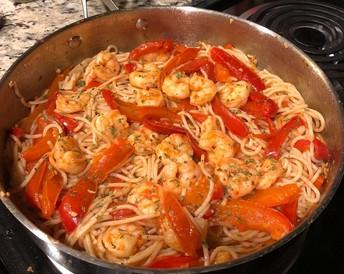 Shrimp Pasta dish by Courtney Carr and Amanda Perez