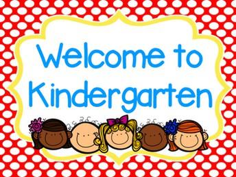 Attention Kindergarten Families!