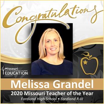 Misty Grandel Missouri Teacher of the Year for 2020.