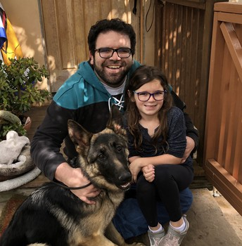 Mr. Darmanin, daughter and their newly adopted Lilly Belle