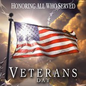 Veterans Day Assembly - Thursday, November 9th