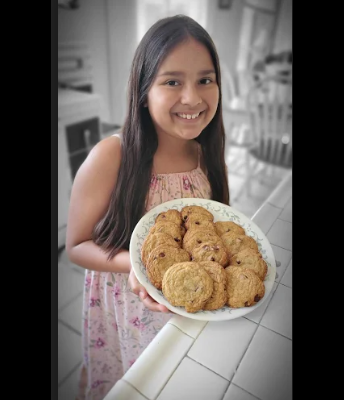Cookies made from a student in Ms. Thomas' class
