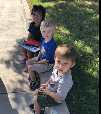 PreK Students Waiting