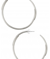 PENDING SALE - Signature Hoops - Silver