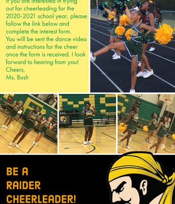 Cheer Tryouts-  6th and 7th graders.
