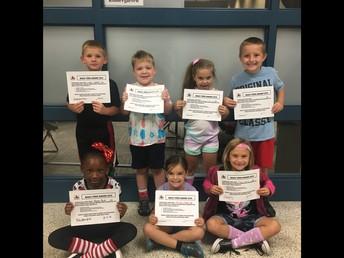 First Grade Bully Free Winners!