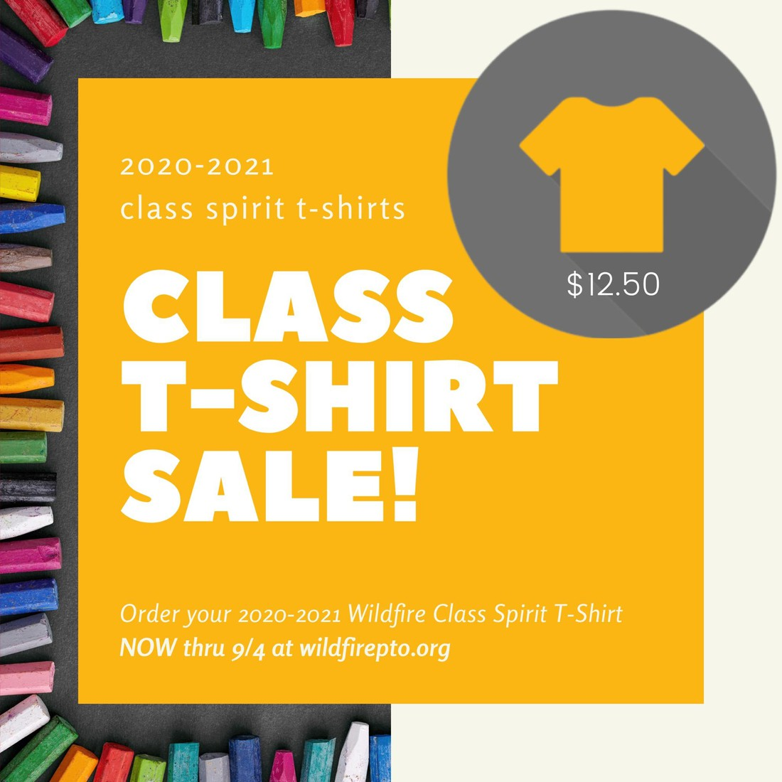 WFES T-Shirt Sale Flyer
