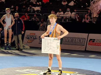 Congratulations to Sophomore Ashton Jackson on a State wrestling title at 106 lbs!