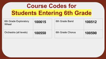 Elective Course Codes