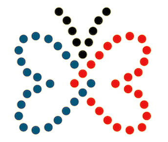 ECVI Butterfly Outline in Braille Dots