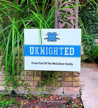 UKnighted Yard Sign