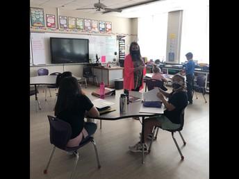 Mrs. Tarr teaching 5th grade ELAR