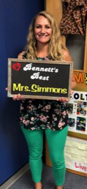 Jenny Simmons - Bennett's Best Award Recipient