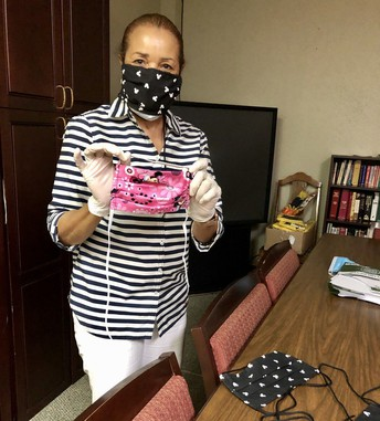 Student Makes Masks for APA Employees