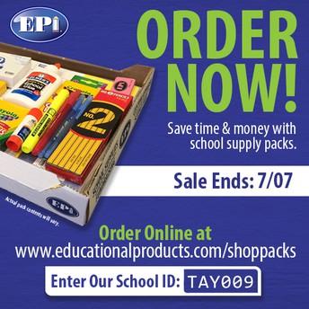 School Supply Pack Pre-Sale