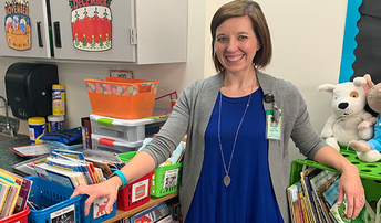 Borgerding wins $1,000 book grant for Roosevelt Elementary