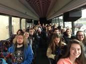 Field trip on fancy buses!