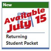 Returning student verification begins July 15
