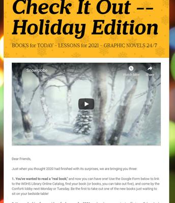 Holiday Edition, December 2020