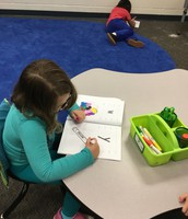 When the kiddos are finished early they get to work in their workbooks- which they love!
