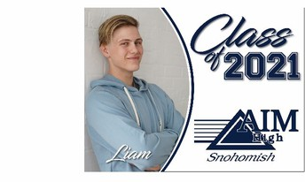 Yard sign example with graduate photo option