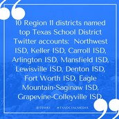 NEWS: 10 Region 11 Districts Selected as Top Twitter Users