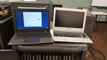 New Chromebook And Old Chromebook Side By Side