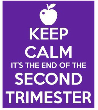 IT IS ALMOST THE END OF THE SECOND TRIMESTER