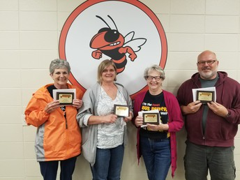 Judy Williams, Amy Cottrell, Janice McCartney, & Vince McCartney - Perfect Attendance Award