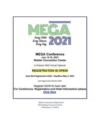 MEGA Conference: July 12-16, 2021