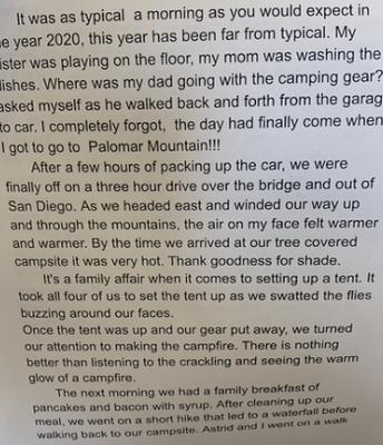 Narrative Writing in 3rd Grade