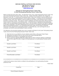 Participating Parish Forms