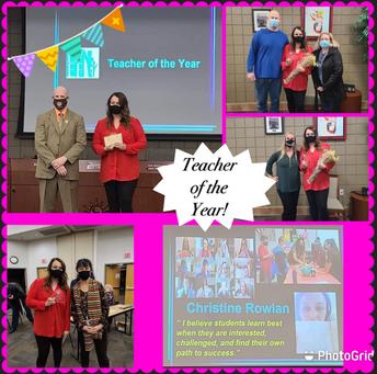 2019-2020 Teacher of the Year! (Mrs. Rowlan)