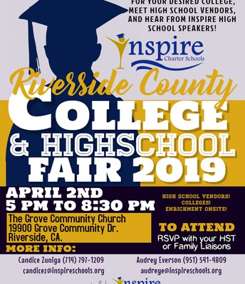 Inspire Charter Riverside County College & High School Fair 2019
