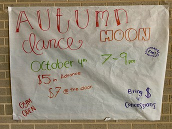 School Dance: Hosted by Student Council - Volunteers Needed