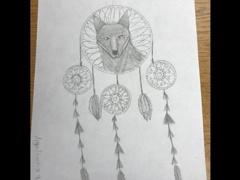 Dream Catcher with Wolf