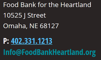 Información de contacto para el Food Bank for the Heartland