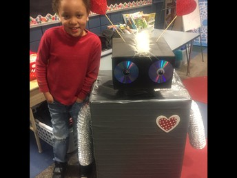 Drake and his Valentine robot!