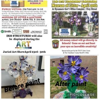 Cheatham County Trash Art Iris Competition!