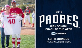 Mt. Carmel Coach Named Padres' Coach of the Week