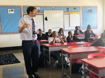 Alumni Leading Harambee On First Day of School