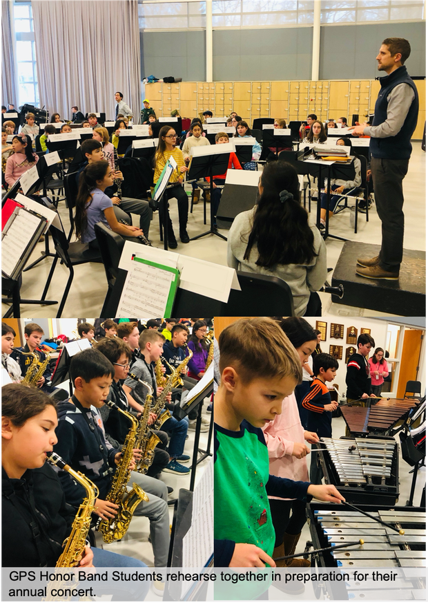 GPS Honor Band rehearses for their annual concert