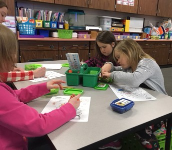 Kindergarten Uses Coloring Skills, Makes Connections