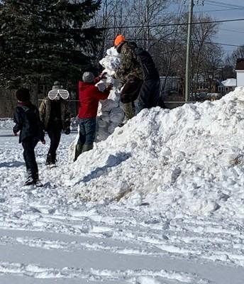Intermediates Built the Biggest Snow Person Ever!