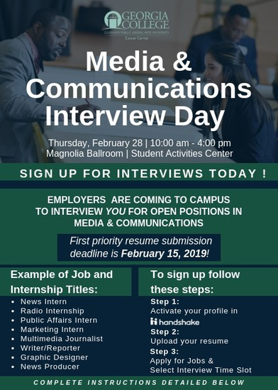 Media & Communications Interview Day