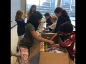 Sorting supplies for Houston School District