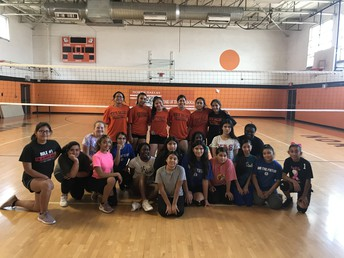 Volleyball Clinic at NDHS